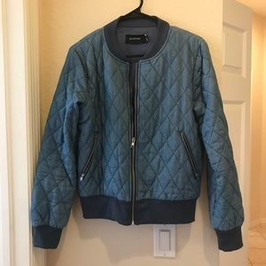 Mink Pink Quilted Bomber Jacket